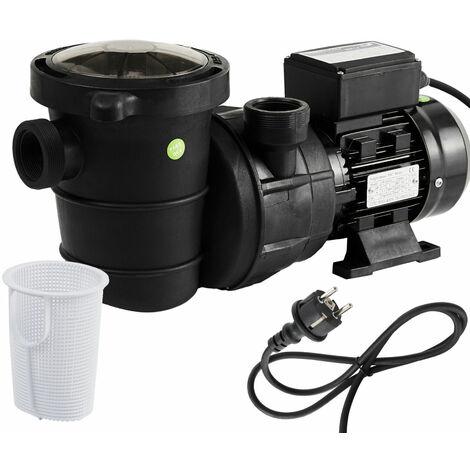 AREBOS Pompe de piscine Pompe de filtration Pompe de circulation 600 W - noir / rouge