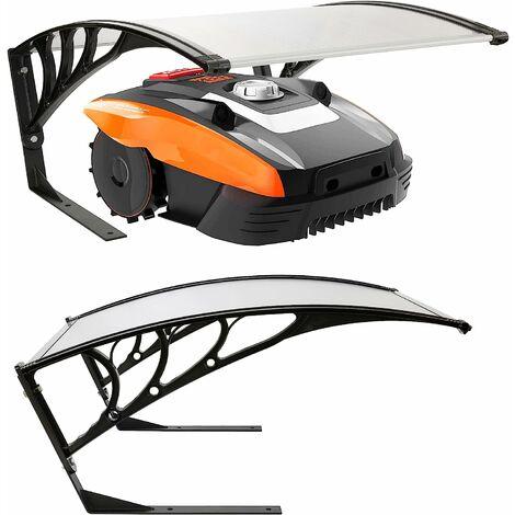 AREBOS Garage pour Robot Tondeuse Protection Toit Transparent