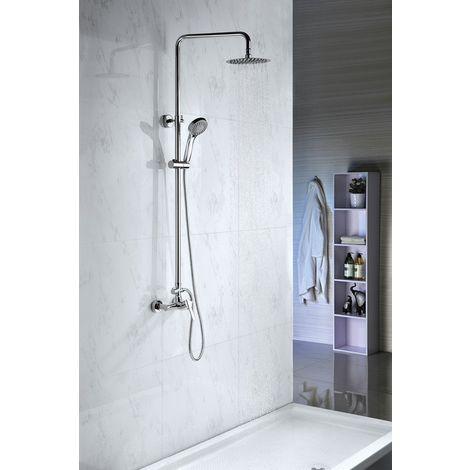 Columna de ducha de acero inoxidable monomando Serie Roma - IMEX