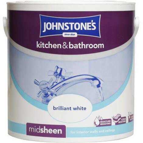 Johnstones Kitchen And Bathroom Brilliant White 2.5 Litre