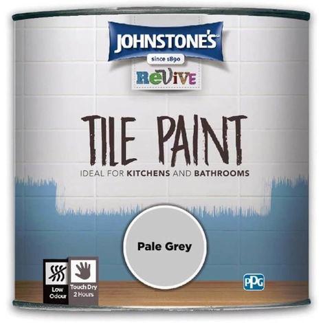 750ml Johnstones Revive Tile Paint Pale Grey