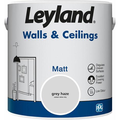 Leyland Walls & Ceilings Matt Grey Haze 2.5L