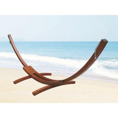 Telaio in legno di larice per amaca doppia cm.410x120x130 arredo giardino esterno - Salone