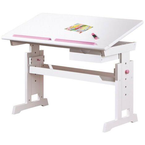 Scrivania baru piano inclinabile e regolabile 109x55x62/88h pino massello - Inter Link