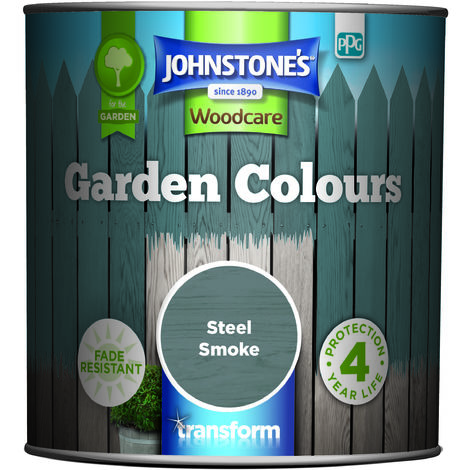 Johnstone's Garden Colours Steel Smoke 1l