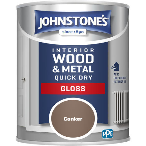 Johnstones 750ml Quick Dry Gloss Paint - Conker