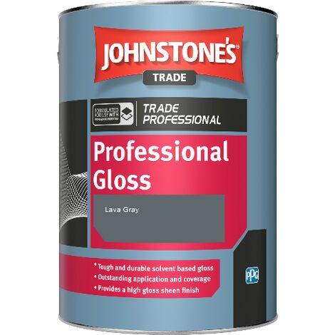 Johnstone's Professional Gloss - Lava Gray - 5ltr