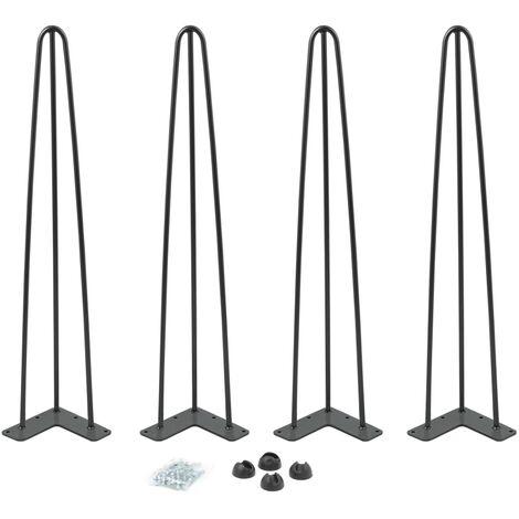 Lot de 4 pieds épingle 71 cm pour table design industriel