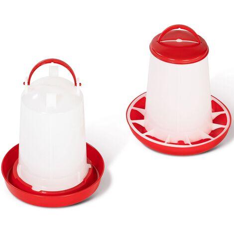 Lot mangeoire 3 kg et abreuvoir 3L pour poules et volailles
