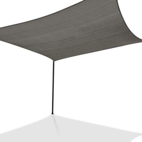 Voile d'ombrage rectangulaire 4x6 M gris