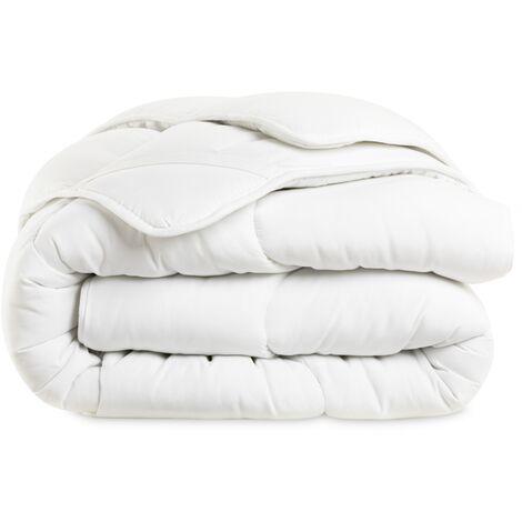 Surmatelas 140x190 cm épais et moelleux 600gr/m2 surpîqures vagues confort cocooning