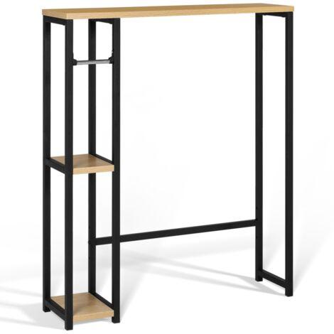 Meuble dessus WC avec étagères DETROIT design industriel