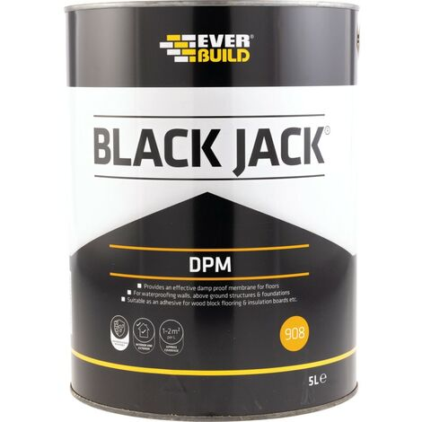 Everbuild 908 Everproof DPM Black Bitumen Paint - 5LTR