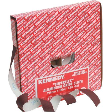 25mm Superflex Aluminium Oxide Cloth Roll - 50m