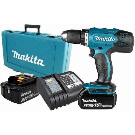 Perceuse visseuse MAKITA 18V 3.0Ah + 2 Batteries, chargeur, en coffret - DDF453SFE