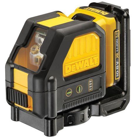 Laser DEWALT En croix - Faisceau vert - 10.8V 2.0Ah - Batterie et chargeur - DCE088D1G