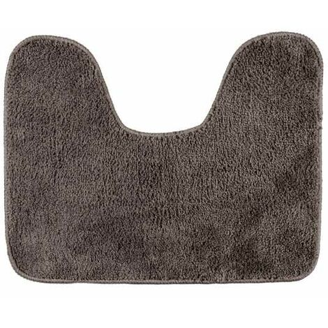 Toilet mat with cut-out Taupe WENKO