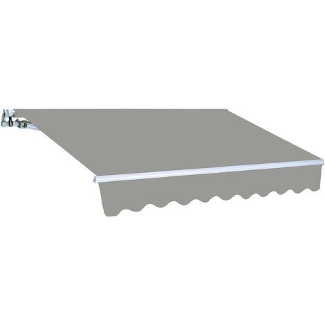 Tenda barra quadra Colore - Cenere P. 200 L. 250