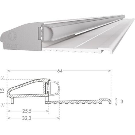 Soglia Antipioggia Drenante in Alluminio Pavimento per Porte e Infissi ULISSE