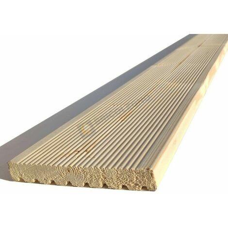Pavimento decking da esterno legno abete svedese prima scelta mm 20 x 140 x 2500