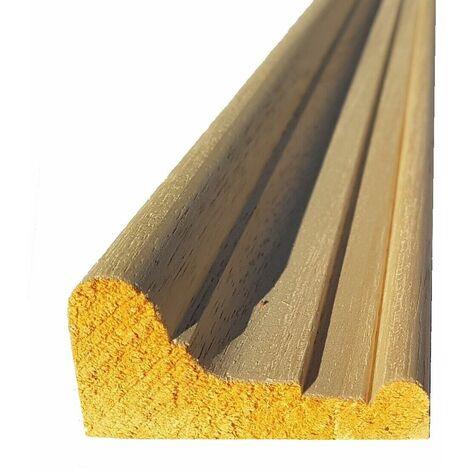 Cimasa cornice per mobili e cucine in legno di ayous grezza mm 35 x 66 x 2500