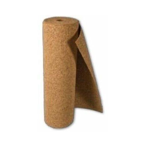 Rotolo sughero supercompresso mm 2 x mt 1 x 10 - 10 mq isolante termico cappotto