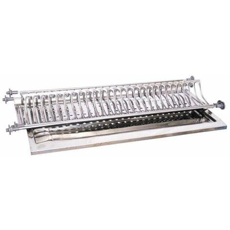 Scolapiatti incasso di 86 cm acciaio inox con base vaschetta per moduli da 90 dimensione disponibile: scolapiatti cm 86