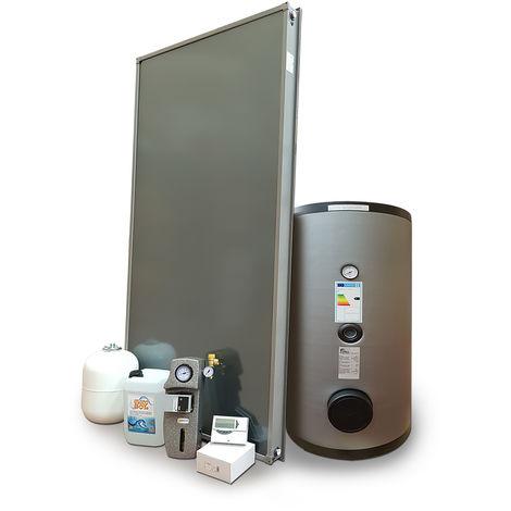 Kit impianto solare termico a pannelli piani per produzione di Acqua Calda Sanitaria