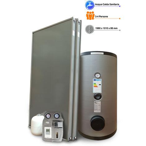 Kit impianto solare termico a svuotamento per produzione Acqua Calda Sanitaria