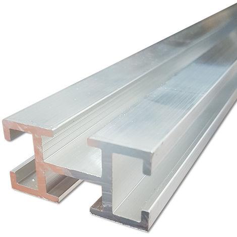 Profilo di montaggio rapido a 4 cave in lega di alluminio per solare termico - prezzo al metro