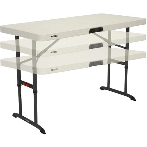 Lifetime 4-Foot Adjustable Height Table (Commercial) - Almond