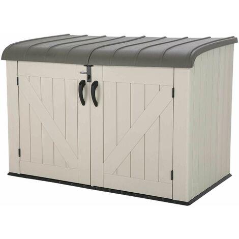 Lifetime Horizontal Storage Shed (75 cubic feet) - Tan