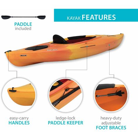 Emotion Guster 10 Sit-In Kayak - Orange