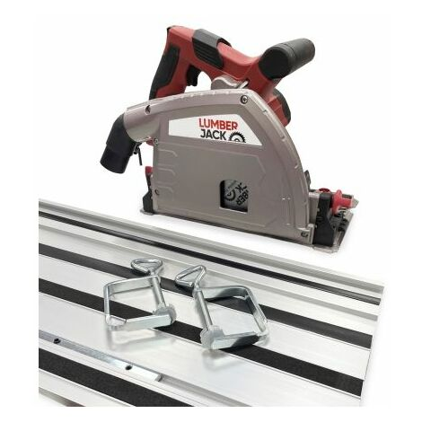 Lumberjack 1200W 165mm Plunge Cut Compact Circular Saw & 1400mm Track Kit 240v