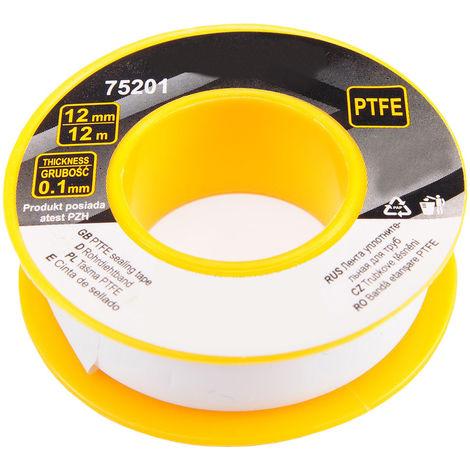 5 Rolle PTFE Teflonband 12 mm x 12 Meter
