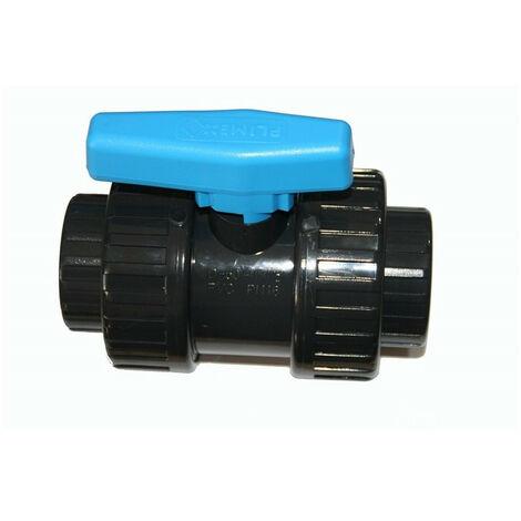 Vanne ø 50 mm a boisseau a coller PVC - PLIMEX