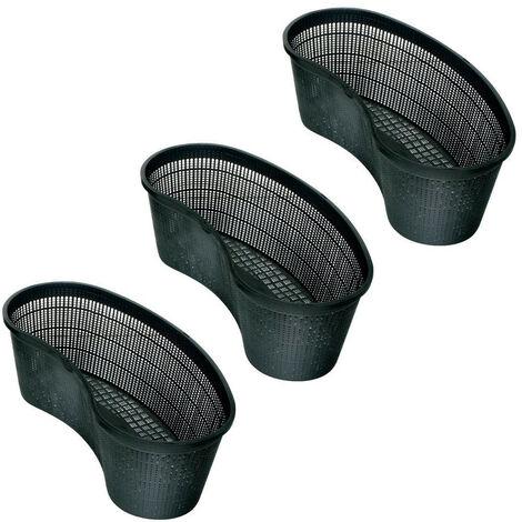 Lot de 3 Paniers ovale 45 pour bassin aquatique