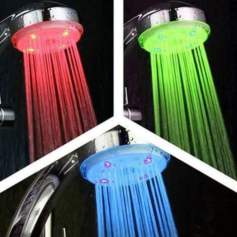 Alcachofa de ducha LED detector de temteratura SIN PILAS