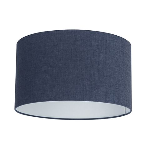 Abat-jour en tissu bleu foncé 35/35/20 Qazqa Moderne Rond