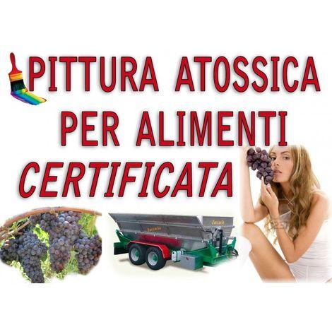 SMALTO VERNICE EPOSSIDICO USO ALIMENTARE BIANCO alimenti CERTIFICATO Kg 1 acqua olio vino Pittura serbatoi ferro vasche