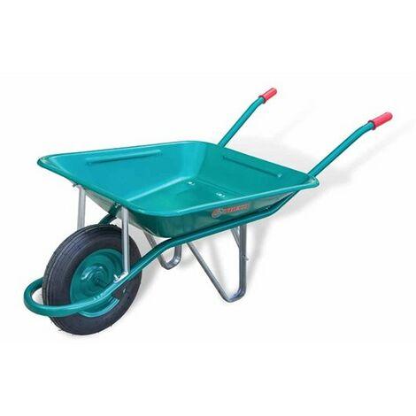 Carretilla Construccion Obra 60Lt Metal Verde C1/650 Theca