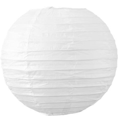 Boule papier 20cm Blanc - Blanc