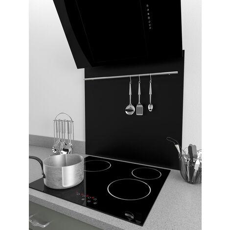ART1144 70x75cm Black Splashback With Utensil Rail