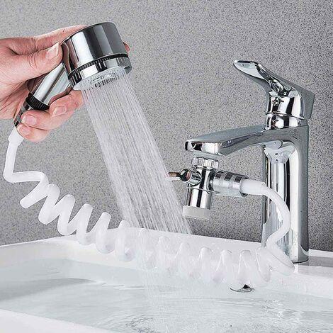 Doccia a mano doccetta portatile per lavandino + tubo e deviatore Art. 59417