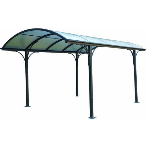 carport tettoia in policarbonato e alluminio - 485x300x253h cm.