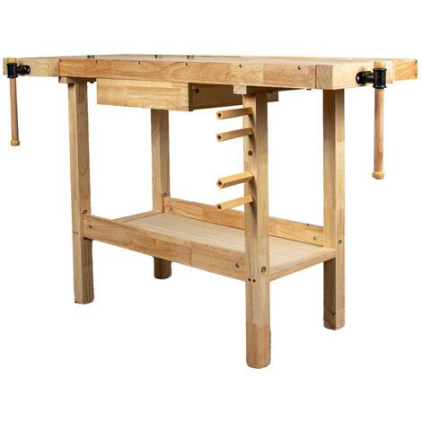 banco da lavoro in legno 148x61x86cm