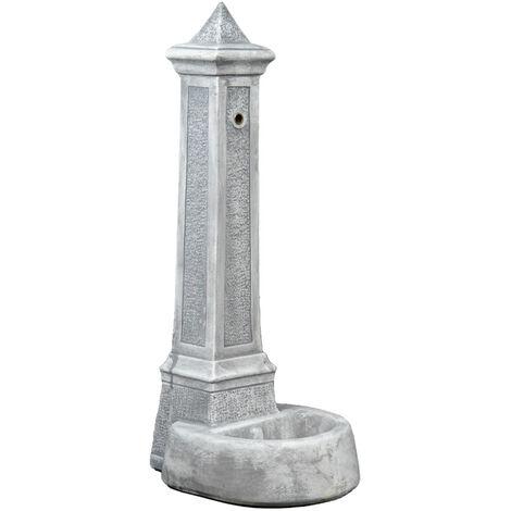 """fontana vedovella anticata """"lecce"""" colore grigio - 36x46x100 cm"""