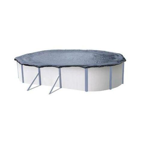 Bache hivernage couverture protection piscine hors sol 6,50 x 4,15 m