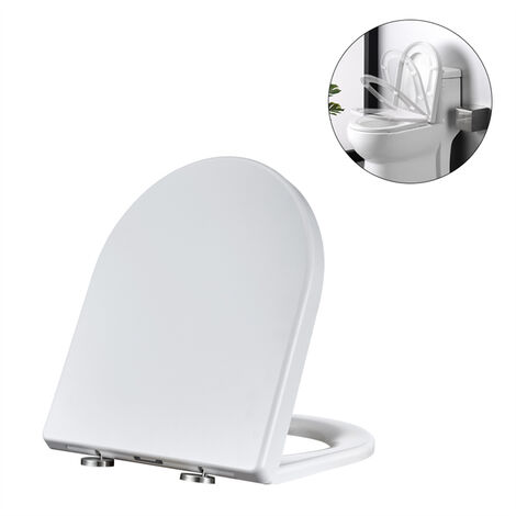 Toilet Seat Soft-close with Quick-release WC Toilet Seat Design White