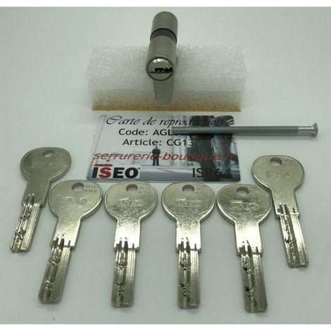 Cylindre européen CITY ISEO ISR6 avec 6 clés.